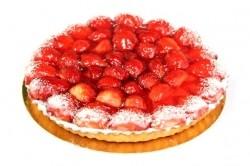 Aardbeienvlaai - Bakkersonline