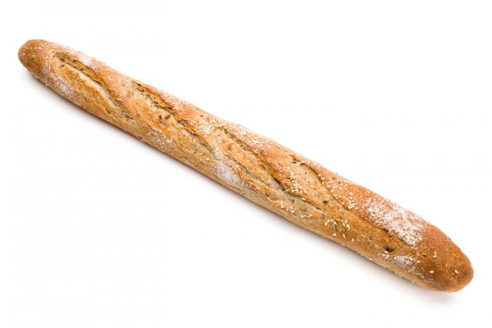 Kleine grijze baguette - Bakkersonline