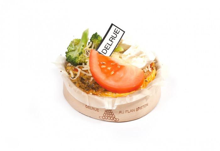 Warm hapje quiche broc-feta-tomaat 1 st - Bakkersonline